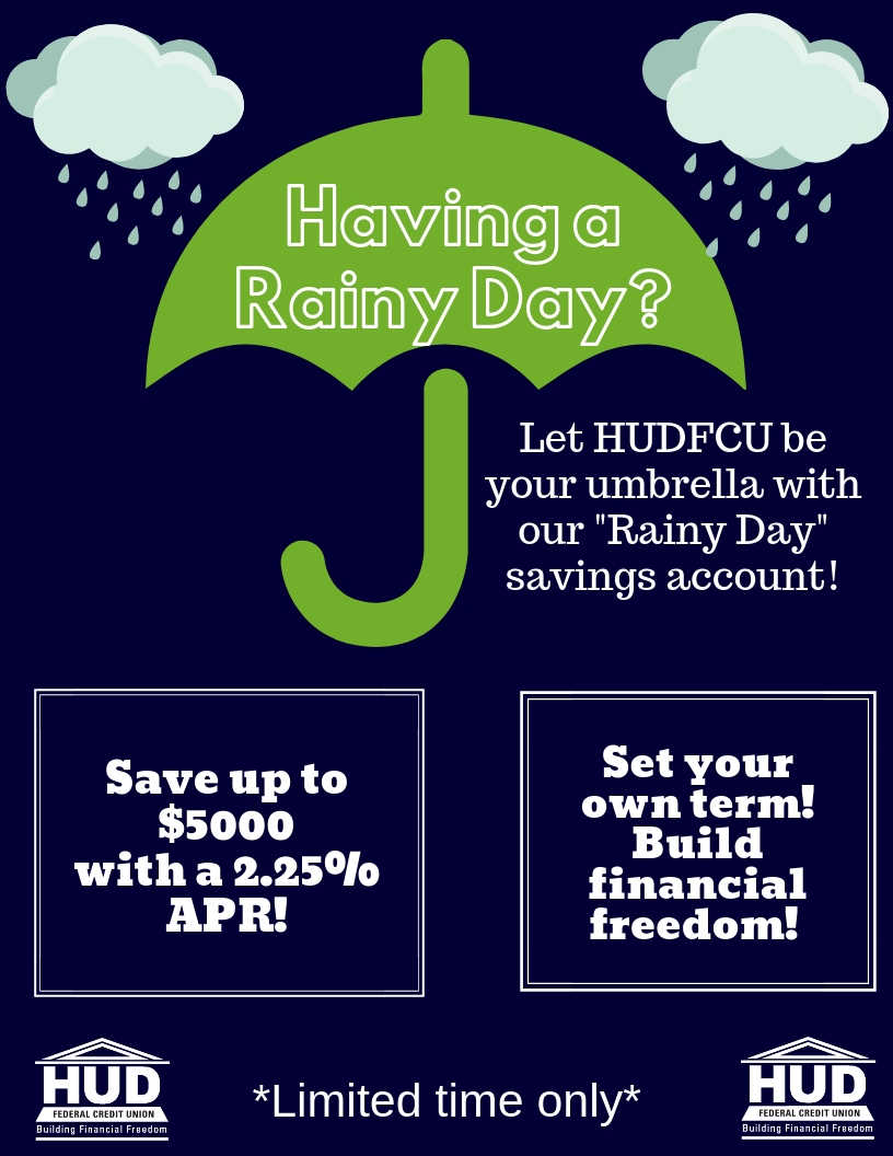 Rainy day fund. Contact us for more info.
